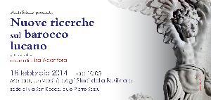 Nuove ricerche sul barocco lucano - 18 Febbraio 2014 - Matera