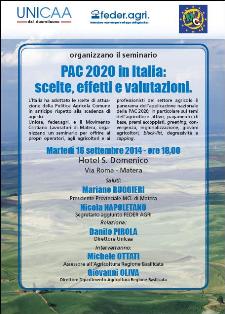 Pac 2020 in Italia, scelte, effetti e valutazioni - 16 settembre 2014 - Matera