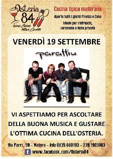 Paraffin Live - 19 settembre 2014 - Matera
