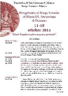 Peregrinatio di Maria SS. Annunziata di Picciano  - Matera