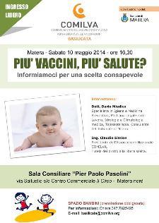 Più vaccini, Più salute? informiamoci per una scelta consapevole - 10 Maggio 2014 - Matera