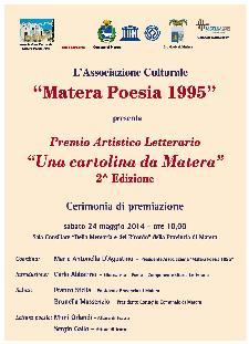 """Premio artistico-letterario """"Una cartolina da Matera""""  - Matera"""