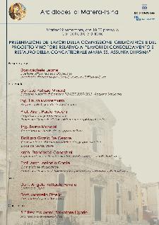 Presentazione dei lavori di restauro concattedrale di Irsina  - Matera