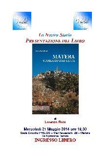 Presentazione del libro: Storia di una Città  - Matera