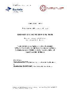 Presentazione del protocollo d'intesa tra Equitalia Sud e l'Ordine dei Dottori Commercialisti ed Esperti Contabili di Matera  - Matera