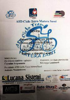 Presentazione della società ASD Ciclo Team Matera Sassi - 29 Marzo 2014 - Matera