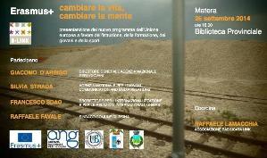 Presentazione di Erasmus Plus - 26 settembre 2014 - Matera