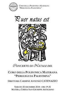 Puer Natus Est - Concerto di Natale - 20 Dicembre 2014 - Matera