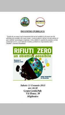 Rifiuti Zero - Un obiettivo possibile - 11 Gennaio 2014 - Matera