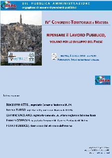 Ripensare il Lavoro Pubblico,volano per lo sviluppo del paese - 6 Giugno 2014 - Matera