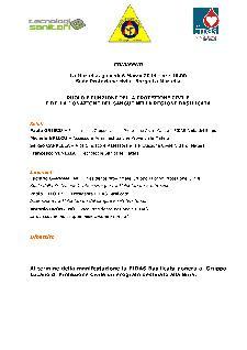RUOLO E FUNZIONI DELLA PROTEZIONE CIVILE E DELLA DONAZIONE DEL SANGUE NELLA REGIONE BASILICATA - 6 marzo 2014 - Matera