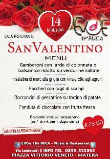 San Valentino al Ristorante Evoè 19a Buca - 14 Febbraio 2014 - Matera