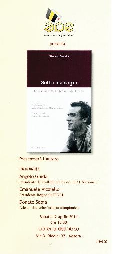 Soffri ma sogni. Le disfide di Pietro Mennea da Barletta - 12 Aprile 2014 - Matera