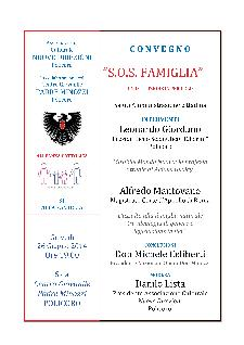 S.O.S. Famiglia: un'istituzione in pericolo  - 26 Giugno 2014 - Matera
