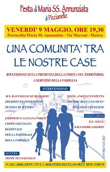 Una Comunità tra le nostre Case - 9 Maggio 2014 - Matera