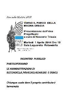Verso il Parco della Magna Grecia - 1 aprile 2014 - Matera