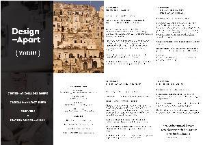 Workshop Design-Apart - 10-13 settembre 2014 - Matera