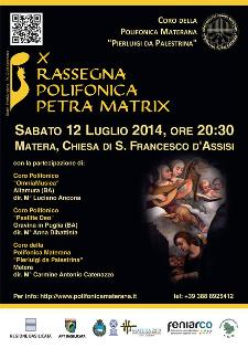 """X Rassegna Polifonica """"Petra Matrix"""" - 12 Luglio 2014 - Matera"""