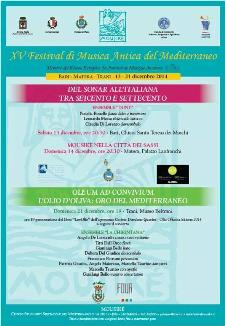 XV festival di musica antica Mousiké nella città dei sassi - 14 Dicembre 2014 - Matera