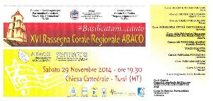 XVI Rassegna A.BA.CO. FE.N.I.A.R.CO - 29 Novembre 2014 - Matera