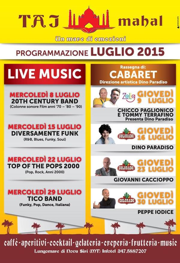20th Century band Chicco Paglionico e Tommy Terrafino