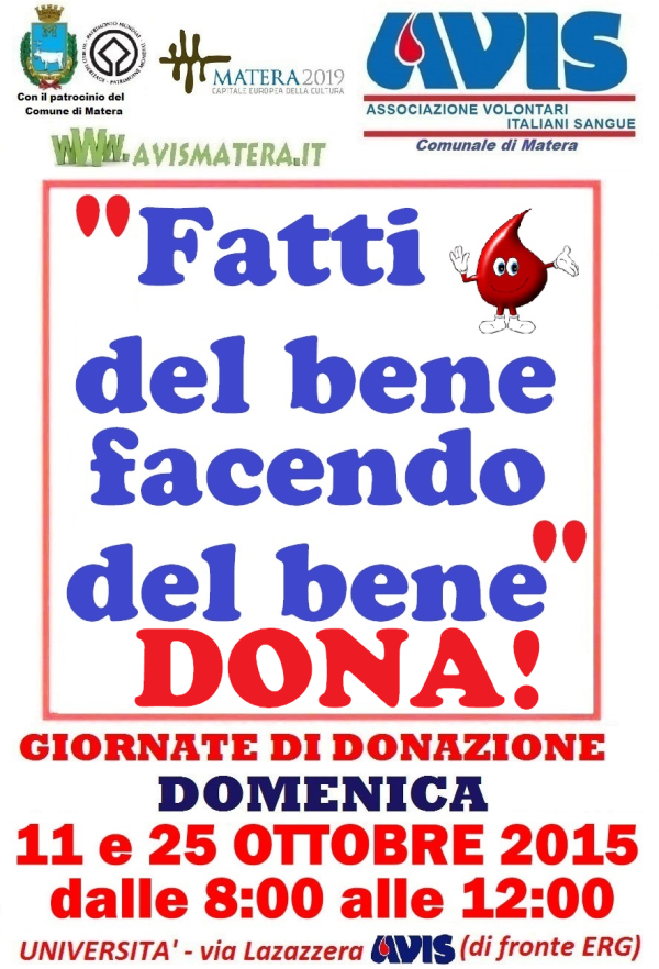 Avis: giornata di donazione di sangue