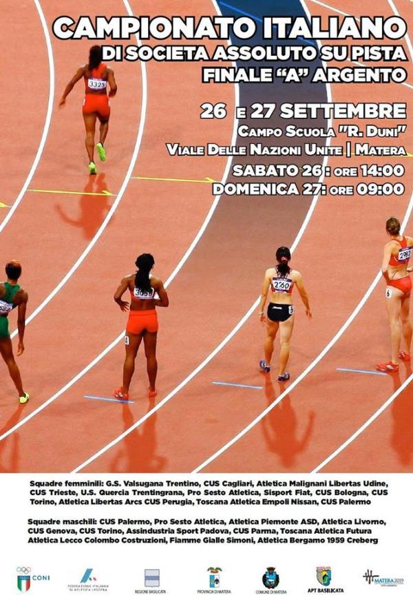 Campionato italiano assoluto di società su Pista - Finale A Argento