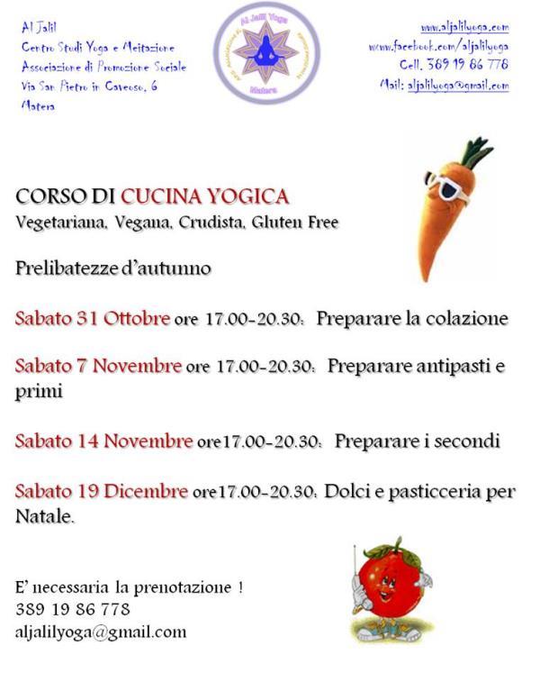 Corso Di Cucina Yogica Vegetariana Vegana Crudista