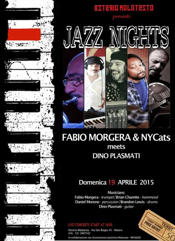 Fabio Morgera & Nycats - 19 Aprile 2015