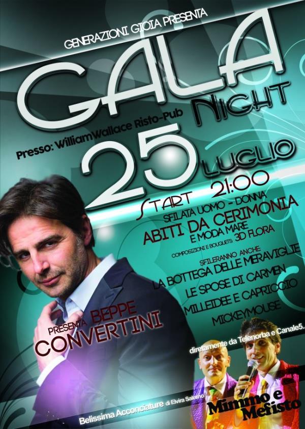 Gala Night - 25 Luglio 2015