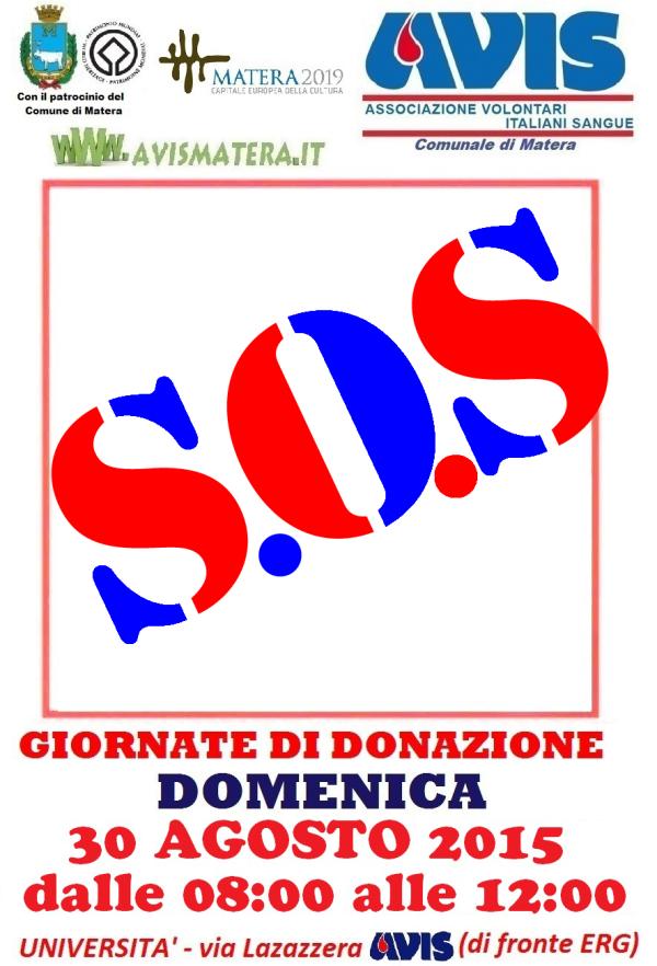 Giornata Mondiale del donatore di sangue - 30 Agosto 2015