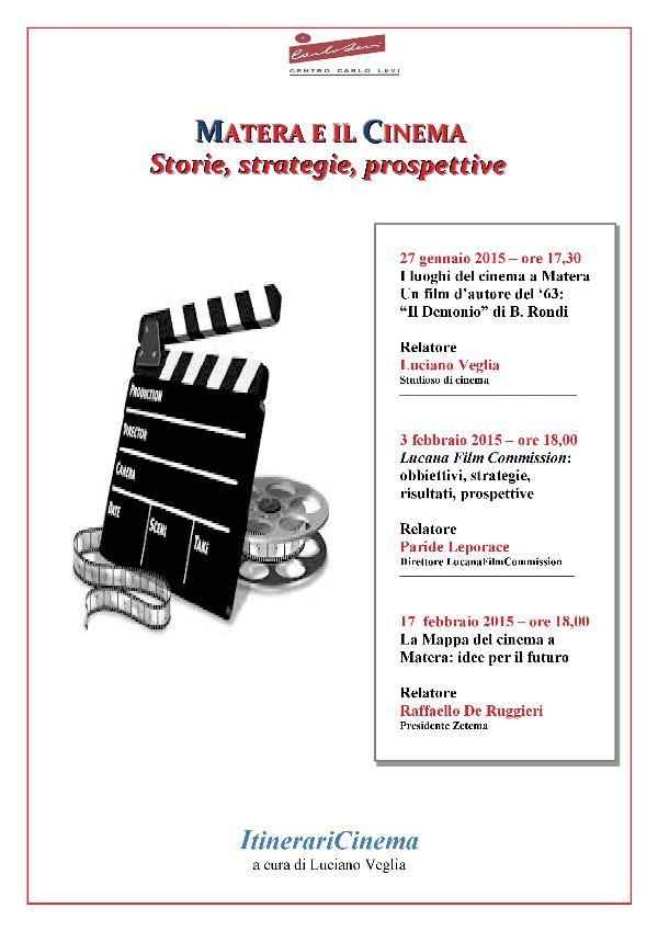 Matera e il Cinema: Storie, strategie, prospettive
