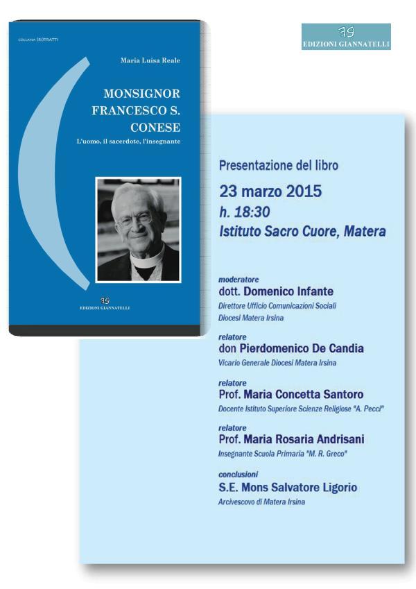 Mons. Francesco Saverio Conese - 23 Marzo 2015