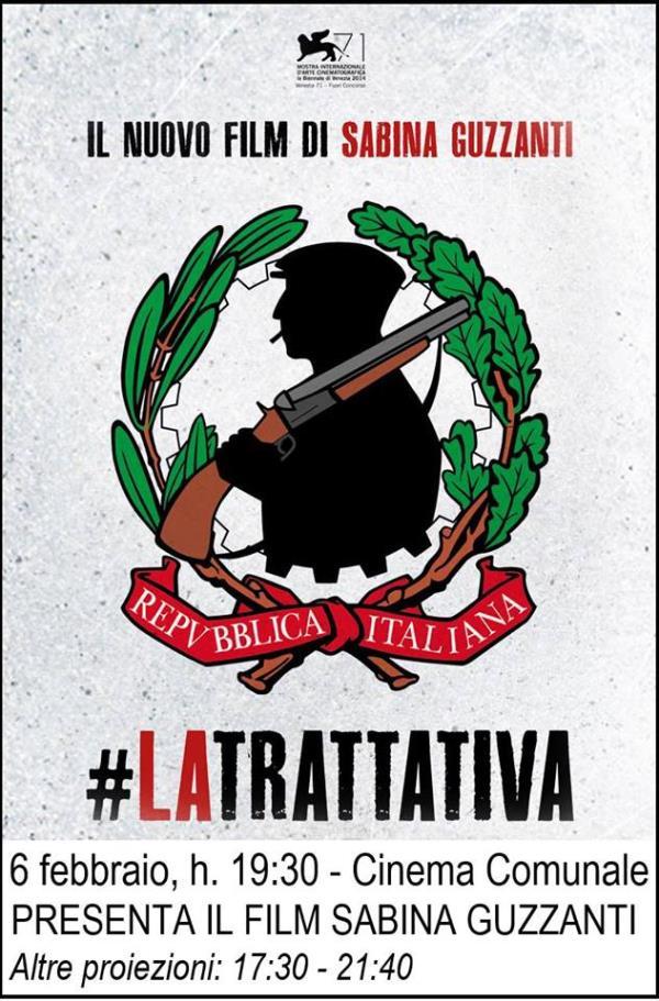 """Proiezione """"La Trattativa"""", con Sabina Guzzanti"""