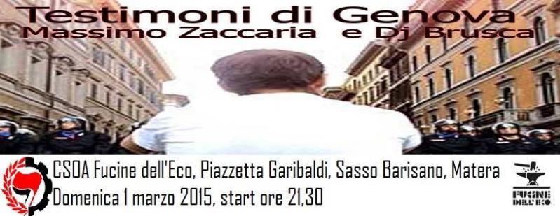 Testimoni di Genova - 1 Marzo 2015