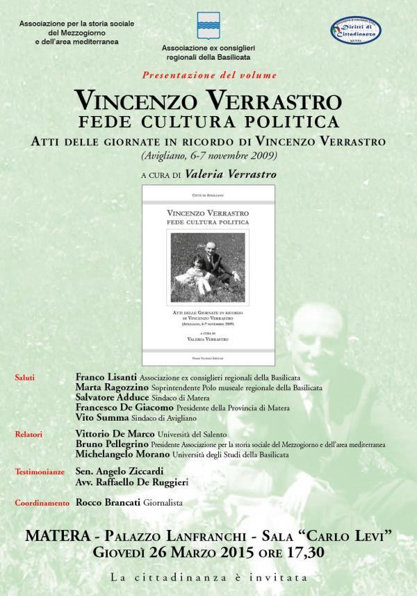 Vincenzo Verrastro. Fede cultura politica - 26 Marzo 2015