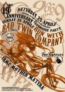 19° Anniversary Party - Run with Bad Twin Company  - Matera