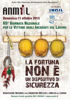 65° Giornata Nazionale per le Vittime di incidenti sul Lavoro - 11 Ottobre 2015 - Matera