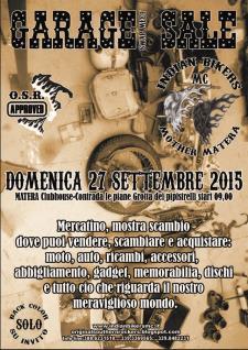 6° GARAGE SALE Swap Meet - 27 Settembre 2015 - Matera