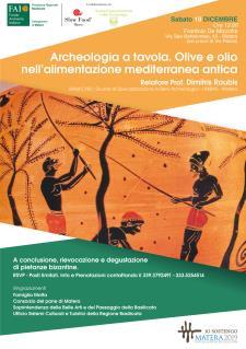 Archeologia a tavola. Olive e olio nell'alimentazione mediterranea antica - Matera