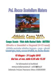 Athletics Camp 2015  - Matera