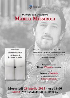 Atti osceni in luogo privato di Marco Missiroli - Matera
