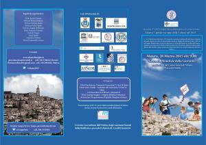 Bambini, ragazzi e giovani: il futuro di Matera - 28 Marzo 2015 - Matera