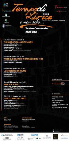 Tempo di lirica e non solo 2015 - Matera