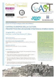 Capitale Europea della Cultura: Prospettive per un'azione strategica d'area vasta - 14 Aprile 2015 - Matera