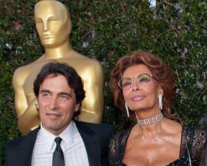 Carlo Ponti Jr con la Madre Sophia Loren - Matera