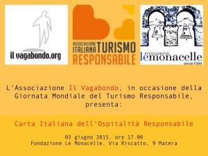 Carta Italiana dell'Ospitalità Responsabile - 3 Giugno 2015 - Matera