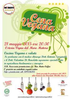 Cena Vegana  - 21 Maggio 2015 - Matera