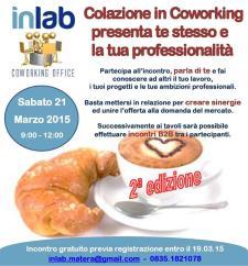 Colazione in Coworking 2014 - 21 Marzo 2015 - Matera