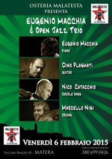 Concerti d'Osteria: Eugenio Macchia & Open Jazz Trio  - Matera